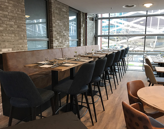Horeca inrichting restaurant Meuviro Interieurbouw